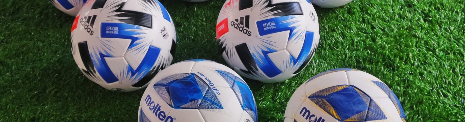 blue and white soccer ball