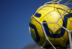 yellow and black soccer ball